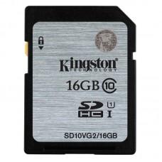 Κάρτα Μνήμης SDHC Kingston 16GB Class10